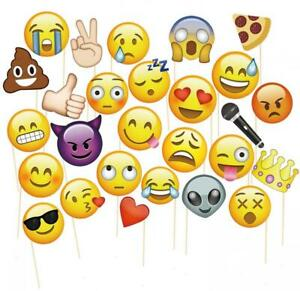 MotGlobal Emoji Photo Booth Props Party Favours Supplies DIY Kit for Parties...