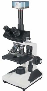 Radical 2000x Clinical Vet Research Quality Trinocular LED Microscope 1.3Mp C...