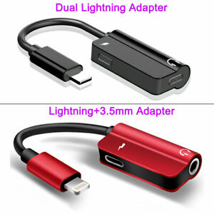 Dual Adapter Converter Charger & Headphone Jack for iPhone 7 8 PLUS X XR XS MAX