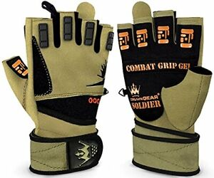 Crown Gear Weightlifting Gloves for Crossfit Workout Training - Fitness Gym