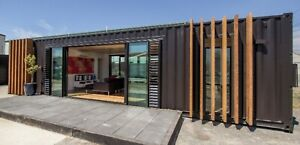 Modern Shipping Container Home 640sqft. Smart Home Luxury.