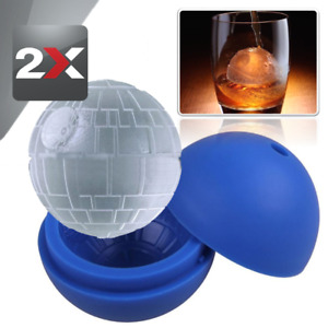 2x Silicone Ice Cube Tray Death Star Wars Ice Cube Ball Maker Silicone Mold 3quot;