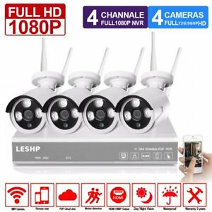4CH Wireless WIFI 1080P NVR 720P960P IP Camera Security System With 1TB BE