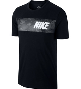 MEN'S NIKE Dry Tee Dri-FIT T-SHIRT Big & Tall Black Dark Grey Block Camo 2XLT 3X
