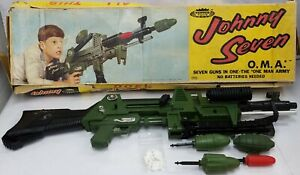 1964 Topper Toys Johnny Seven One Man Army with Box Bullets Ammo
