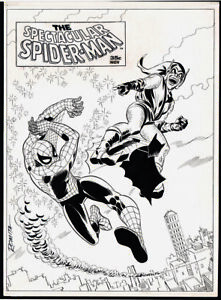 ROMITA JOHN SR - SPECTACULAR SPIDER-MAN #2 LINE ART COVER (LARGE ART) 1968