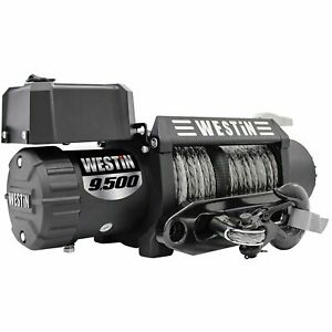 Westin 47-2103 Off-Road Series Winch 9500lbs Line Pull 6.6 HP Motor 38 Syntheti