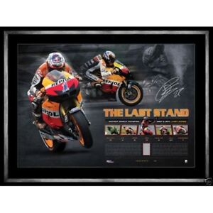 CASEY STONER HAND SIGNED 'THE LAST STAND' LITHOGRAPH PRINT MOTOGP GRAND PRIX