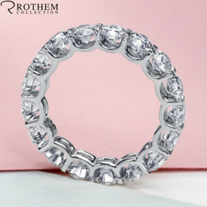 Womens Birthday 7.50 CT D SI2 Diamond Eternity Ring White Gold Wedding Band 818