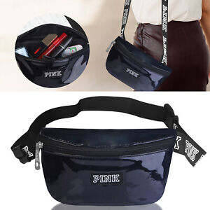 Womens Fanny Pack Shiny Leather Pouch Belt  Waist Phone Pocket US