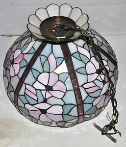 Meyda Tiffany Hanging Lamp Floral Design