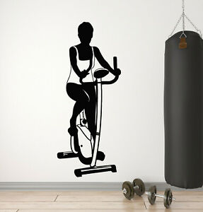 Vinyl Wall Decal Exercise Bike Sports Healthy Gym Stickers Mural g205