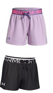 Under Armour Girls NEW Play Up Running Training Soft Knit Sports Shorts