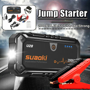 Suaoki 12V Portable Car Jump Starter 2000A Emergency Battery Charger Boost Power