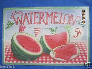 Glass Cutting Board Watermelons and Flags  Summer Trivet New