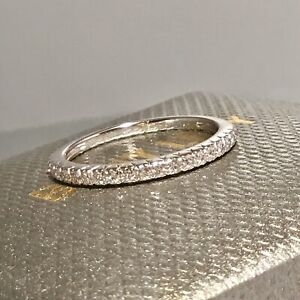 SOLD OUT! BONY LEVY 18 K YELLOW GOLD PAVE DIAMOND STACKABLE BAND RING SIZE 7