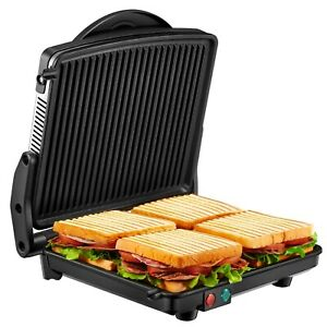 Breakfast Sandwich Maker Panini Press 4-Slice Extra Large Non-Stick Coated