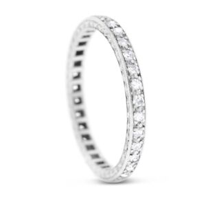 0.50 Ct. Natural Diamond Elegant Eternity Band In Solid Platinum