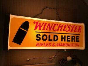 Vintage WINCHESTER rifle Sign