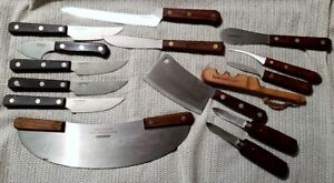 15 PCS LAMSON GOODNOW KNIVES & TOOLS: CLEAVER PIZZA CUTTER ++ *** FREE SHIP ***