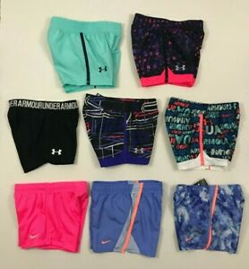 Under Armour NIKE NWT Youth Girls Shorts Play Up Workout Athletic Size 4 5 6 6X