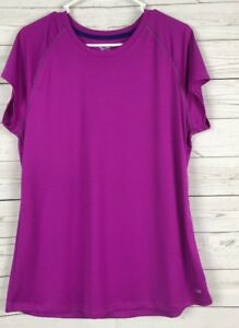 ATHLETIC Shirt Purple Size XXL Youth Girls Duo Dry Semi-Fitted Champion