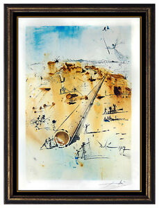 Salvador Dali Original Color Lithograph Hand Signed Aliyah Israel Authentic Art