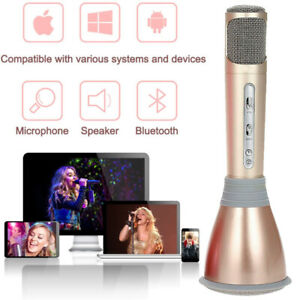 2019 Wireless Handheld Q7 Microphone KTV Karaoke Stereo USB Player Bluetooth BE