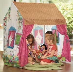 $149 MSRP 4' Tall AMERICAN GIRL Doll Wellie Wishers Magic Theater Play Tent