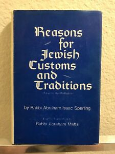 Reasons for Jewish Customs and Traditions by Abraham I. Sperling ENGLISH EDITION
