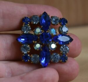 Rare Old Brooch Antique Stones Shine Holiday Beauty Vintage Decoration Gift