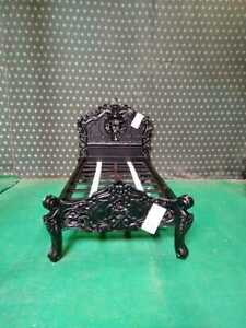 3' Single size BLACK Designer French Gothic baroque sytle Rococo bed furniture