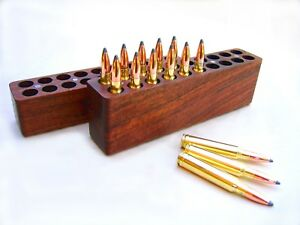 20 Rd Walnut Ammo Box For 6mm PPC