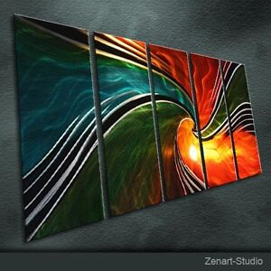 Special Metal Wall Art Shining Painting Sculpture Indoor Outdoor Decor-Zenart