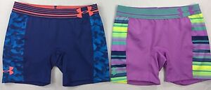 Girl's Youth Under Armour Heatgear Compression Spandex Shorts