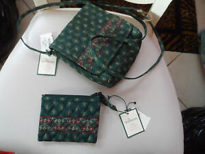 Vera Bradley Swing handbag and matching coin purse in Classic green NWT $55.00