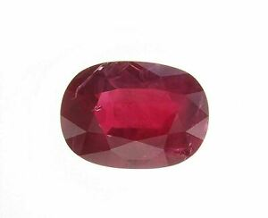 Oval Natural Loose Ruby 20.21 Cts Unique Mozambique GRS Certified H(B) Red