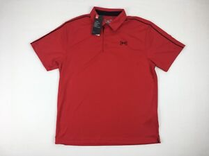 Under Armour Mens Shirt Heatgear Cool Red Fabric Athletic Attire W Tags Loose L $23.90