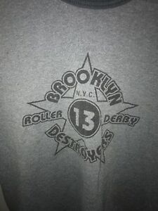 Vintage brooklyn NYC roller derby T Shirt Mens S Made in USA Project E vtg 90s $14.99