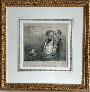 Framed Original French Lithograph Honore Daumier $230.00