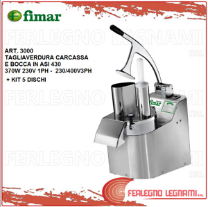 Vegetable Cutter with Engine 3ph or 1ph Fimar 3000+ Kit 5 Discs in Aisi 430