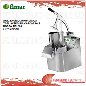 Vegetable Cutter the Romagnola + Kit 5 Discs with Engine 3ph or 1ph Fimar 2000r