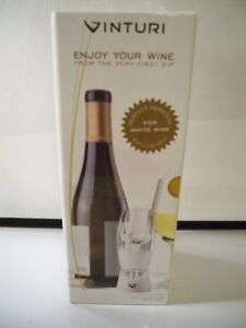 VINTURI ESSENTIAL WHITE WINE AERATOR INCLUDES NO DRIP STAND AND TRAVEL POUCH