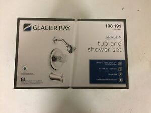Glacier Bay Aragon 874-0101 Tub and Shower Set, Chrome, Free Shipping to US48!