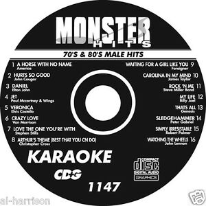 KARAOKE MONSTER HITS CD+G 70's & 80's MALE HITS   #1147