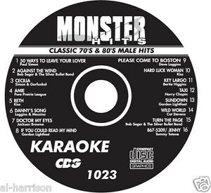 KARAOKE MONSTER HITS CD+G CLASSIC 70's & 80's MALE HITS #1023