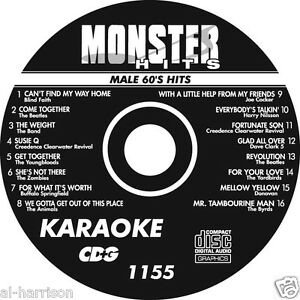 KARAOKE MONSTER HITS CD+G  MALE 60's HITS   #1155