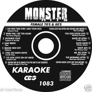 KARAOKE MONSTER HITS CD+G FEMALE 70's & 80's HITS  #1083