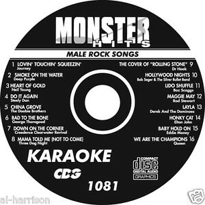 KARAOKE MONSTER HITS CD+G MALE ROCK SONGS #1081