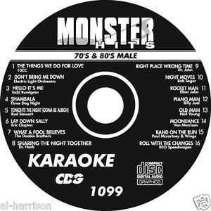 KARAOKE MONSTER HITS CD+G MALE 70's & 80's HITS #1099
